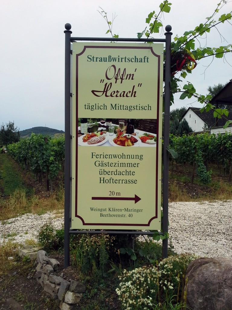 Schild Offem Herrach